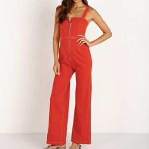 REVOLVE Capulet Simon Jumpsuit in Vintage Red XS